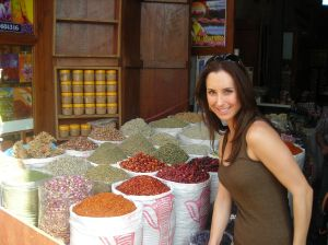 4 - Daughter at spice souk